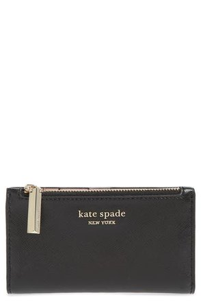 kate spade new york small spencer saffiano leather bifold wallet | Nordstrom