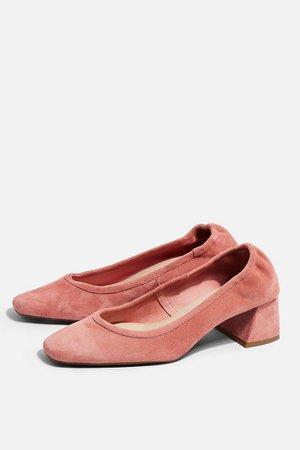 JEMIMA Pink Soft Low Back Shoes | Topshop