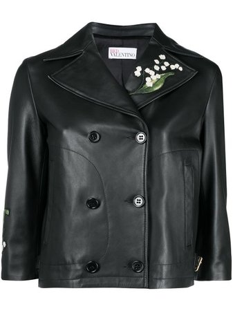 RED Valentino floral-embroidered Jacket - Farfetch