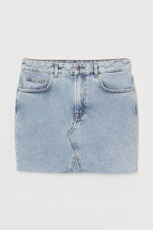 Denim skirt - Light denim blue - Ladies | H&M GB