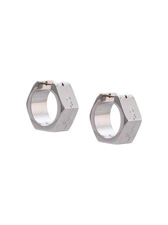 Off-White Hexnut Bolt Earrings - Farfetch