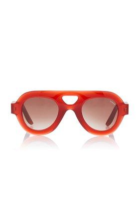 Lapima Milly Oversized Aviator-Style Acetate Sunglasses