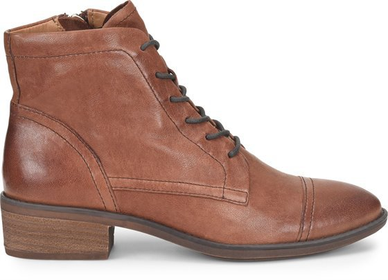 Cordia Lace-Up Ankle Booties, Caffe Brown