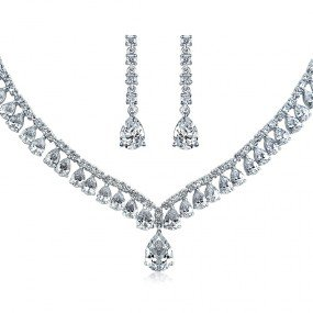 silver necklace and earring sets - Google Search