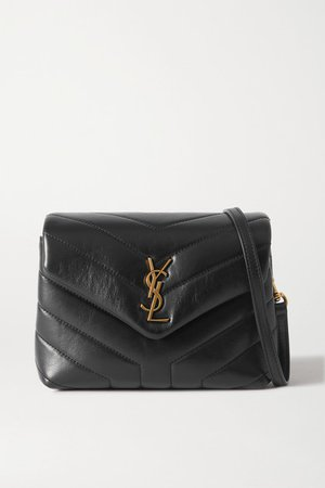Loulou Toy Quilted Leather Shoulder Bag - Black