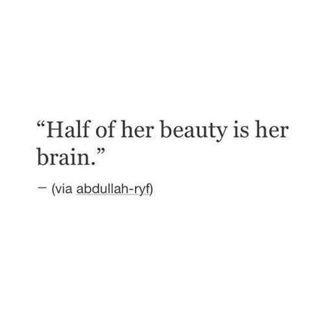 half of her beauty is her brain - Google Search