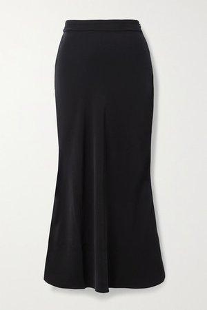 Elle Crepe Midi Skirt - Black