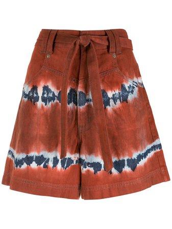 Nk Tie Waist tie-dye Shorts - Farfetch