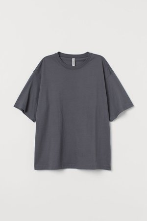 Wide-cut Cotton T-shirt - Gray