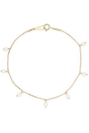 Mizuki | 14-karat gold pearl bracelet | NET-A-PORTER.COM
