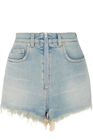 Givenchy | Distressed faded stretch-denim shorts | NET-A-PORTER.COM