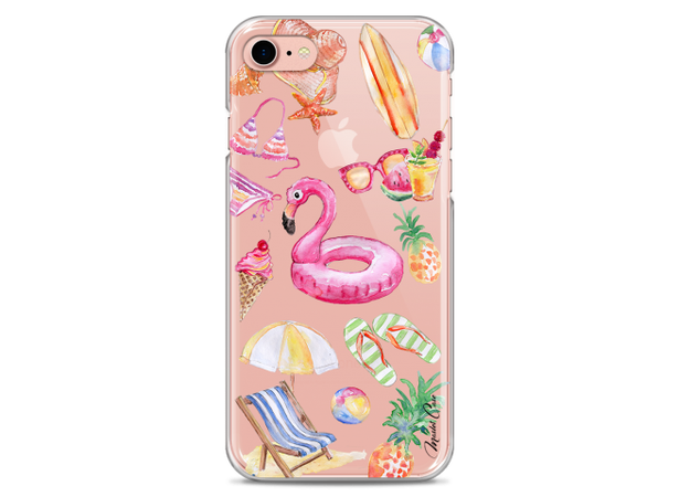 Coque iPhone 7/8 Summer watercolor pattern beach | Master Case