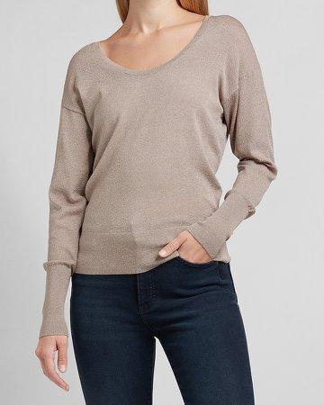 Skimming Scoop Neck Sweater