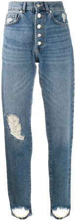 Zadig&Voltaire distressed mom jeans