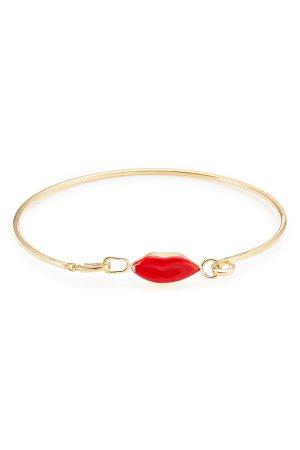 9kt Gold-Plated Silver Grandma Lips Bracelet Gr. One Size