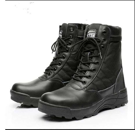 (100% Original) Army Boots Male Zipper Design Tactical Boots Delta SWAT Shoes For Men Black Military Boots: Buy Online at Best Prices in Pakistan | Daraz.pk
