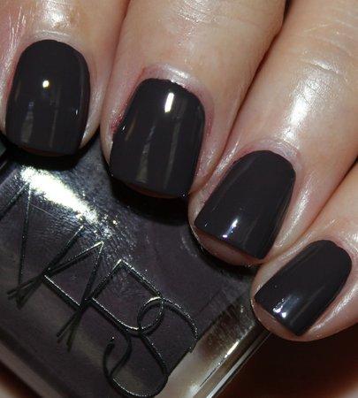 Dark Grey Nails