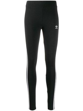 Adidas Stripe Panel Leggings - Farfetch