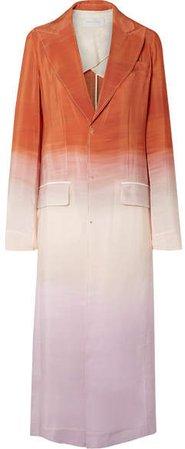 Ombré Crepe De Chine Coat - Blush