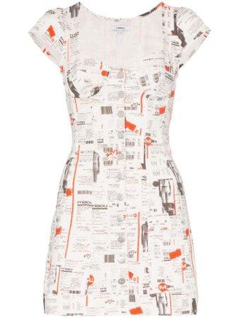 Miaou Gigi Newspaper Print Dress | Farfetch.com