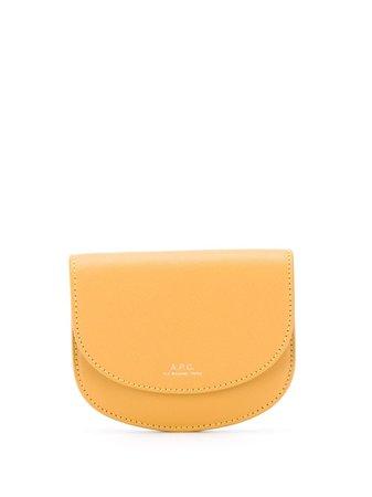A.P.C. Genève Compact wallet yellow PXBJQF63316 - Farfetch
