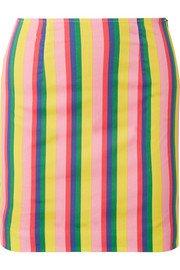 STAUD | Panda stretch-cotton poplin mini skirt | NET-A-PORTER.COM
