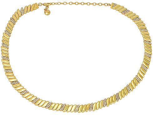 Pave & Gold Collar Necklace
