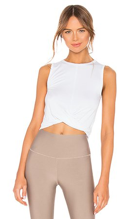 alo Cover Tank in White | REVOLVE