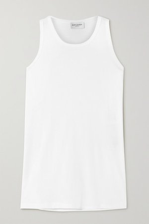 Cotton-jersey Tank - White