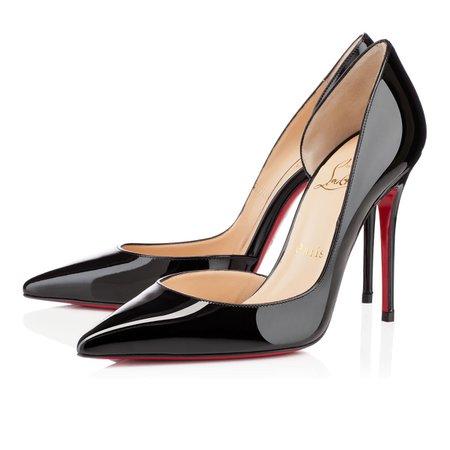 IRIZA 100 Black Patent Calfskin - Women Shoes - Christian Louboutin