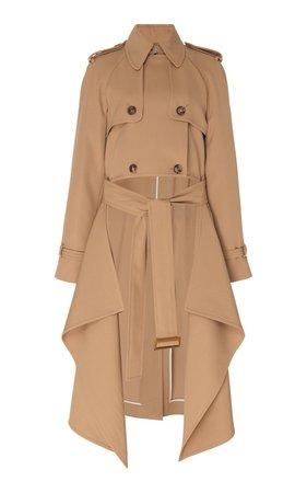 Draped Wool-Gabardine Trench Coat by Michael Kors Collection | Moda Operandi