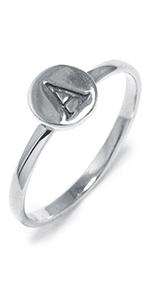"""Amazon.com: Sterling Silver Cursive Script Initial """"M"""" Pendant Necklace, 18"""": Clothing"""