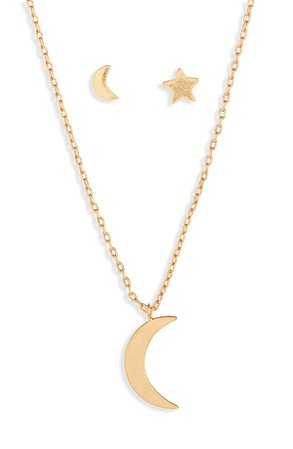 Madewell Spaced Out Necklace & Earring Set | Nordstrom