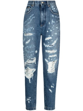 Dolce & Gabbana Ripped Tapered Jeans - Farfetch