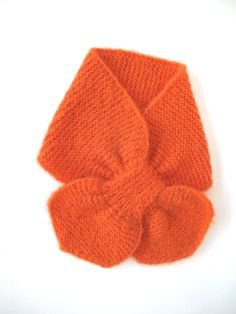 baby alpaca neck scarf - orange