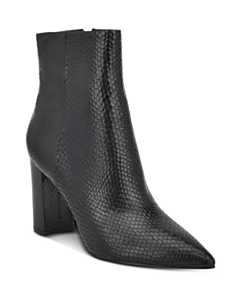 Marc Fisher LTD. Women's Daith Croc-Embossed Booties | Bloomingdale's