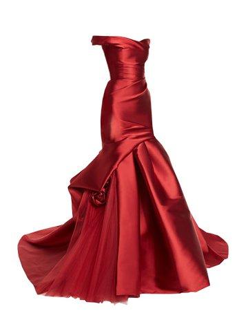 Dress Long Red Mermaid