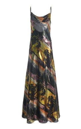 Area Printed Maxi Slip Dress