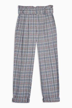 Black and White Textured Peg Trousers | Topshop