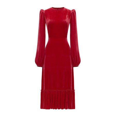 THE RED VELVET VENERATION DRESS – The Vampire's Wife