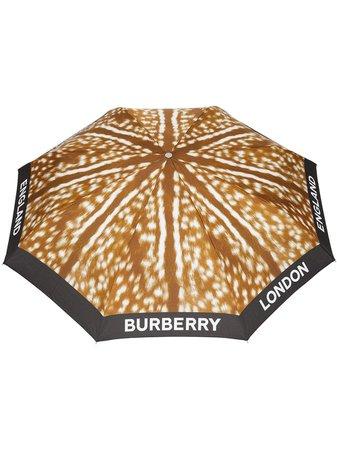 Burberry Deer Print Folding Umbrella | Farfetch.com