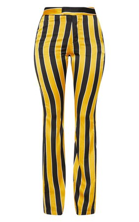 Yellow Stripe Straight Leg Trouser | PrettyLittleThing USA