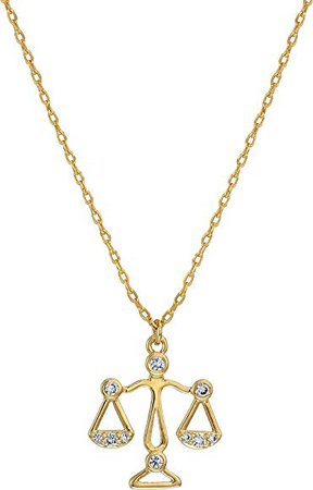 Amazon.com: Kate Spade New York Women's Celestial Charm Libra Pendant Necklace Clear/Gold One Size: Jewelry