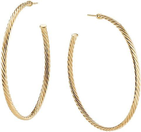 Sculpted Cable Hoop Earrings