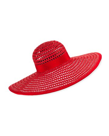 Eugenia Kim Sunny Vented Straw Sun Hat | Neiman Marcus