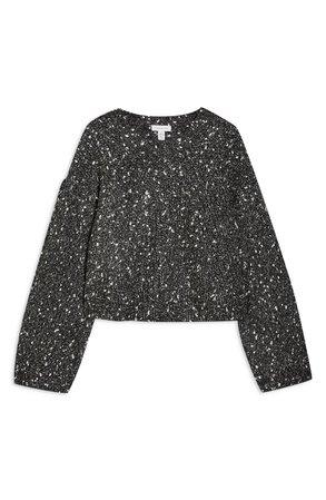 Topshop Chevron Crop Sweater | Nordstrom