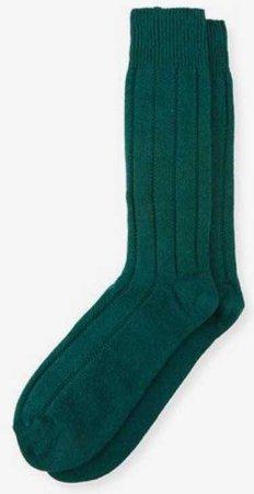 neiman marcus thermal socks green