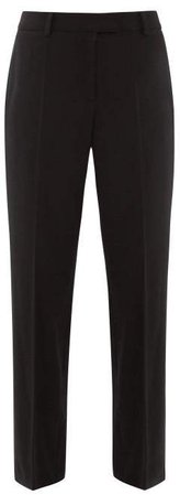 Cece Twill Straight Leg Trousers - Womens - Black