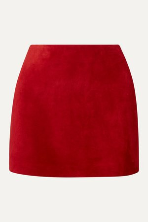 SAINT LAURENT | Suede mini skirt | NET-A-PORTER.COM