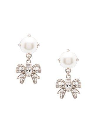 Miu Miu Micro Bow Jewels Earrings | Farfetch.com